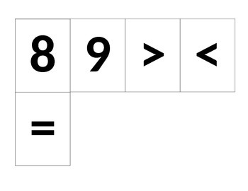 Module 3 Lesson 15 Number and Comparison Symbol Cards