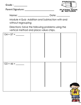 Module 4 Addition and Subtraction with and without regroup