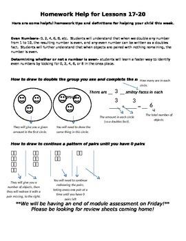 Module 6 Homework Helper Lessons 17-20