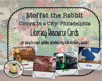 Moffat The Rabbit Colors: Philadelphia Vocabulary Cards/Ac