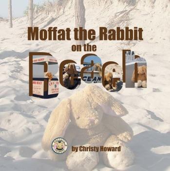 Moffat the Rabbit On A Beach Soft Cover Book