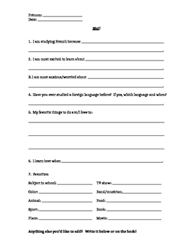 Moi Introduction Worksheet