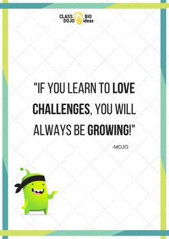 Mojo Class Dojo poster Big Ideas of Growth Mindset
