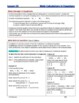 Mole Calculations in Equations -  Guided Study Notes for H