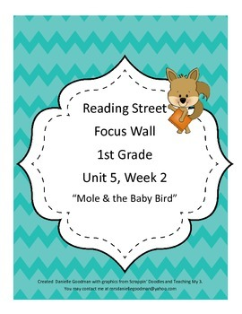 Mole & The Baby Bird Focus Wall Posters 1st Grade Reading