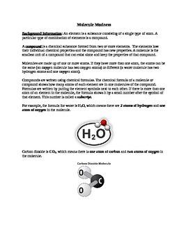 Molecule Madness - Building Molecules Activity/Lab