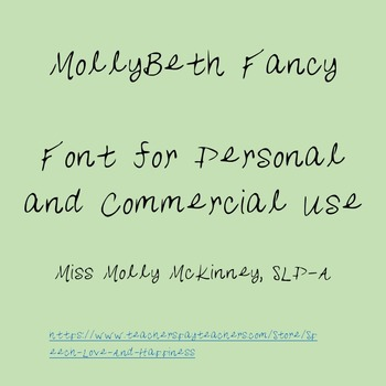 MollyBeth Fancy- Font for Personal and Commercial Use