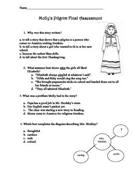 Molly's Pilgrim Final Comprehension Test Common Core Aligned