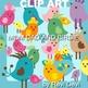 Mom Dad and Birdie clip art (teacher resource) cute bird family