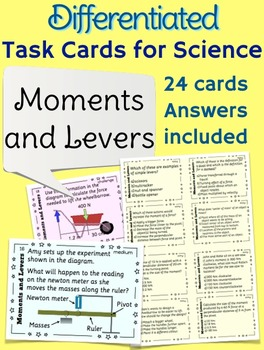 Moments and Levers Task Cards