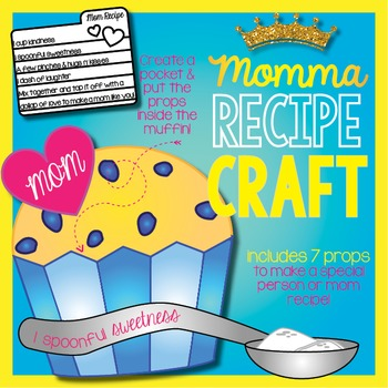 Momma Muffin or Cupcake Mother's Day Recipe (Glyph) Craft