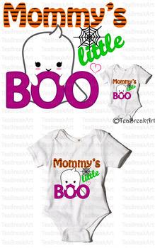 Mommy's little Boo Text Art Monogram Digital Design Cuttin