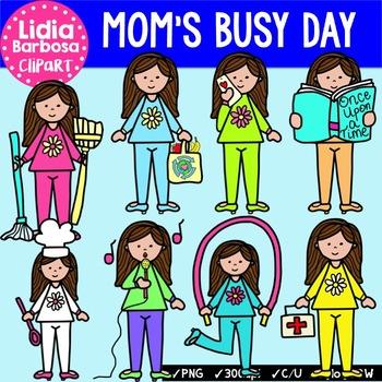 Mom's Busy Day Bundle {Clip Art for Teachers}