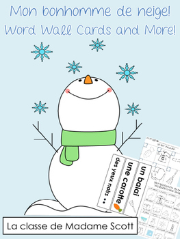 Mon Bonhomme de Neige - Word Wall Vocabulary Cards