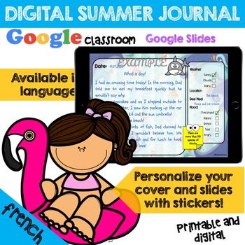 Mon Journal D'été - My Summer Journal - French Version