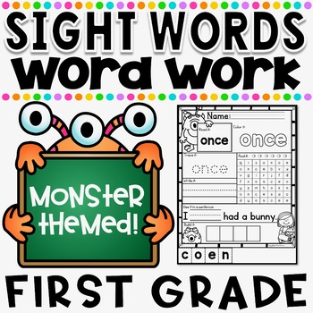 Mon-STAR Sight Words Supreme NO PREP Printables ~ First Grade