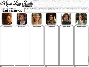 Mona Lisa Smile Movie Handout