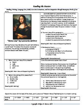"Intervention & Test Prep with ""Mona Lisa"" by Leonardo daVinci"