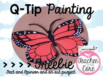 Monarch Butterfly Freebie- Fact and Opinion and Art!