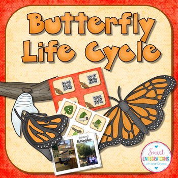 BUTTERFLY LIFE CYCLE - Slideshow, Mini-Book, and Hands-On