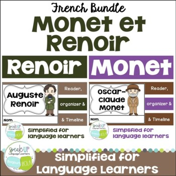 Monet and Renoir French Artist Reader Bundle {En français}