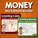 Money Worksheets - Counting Money and Counting Coins Bundl