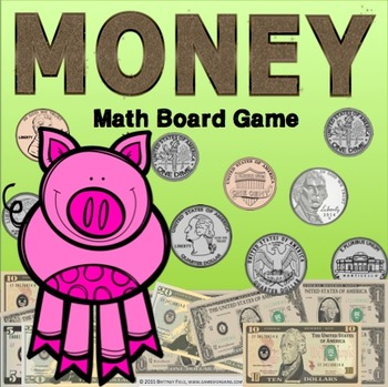Money Game: A Counting Bills and Counting Coins Game (2.MD.C.8)