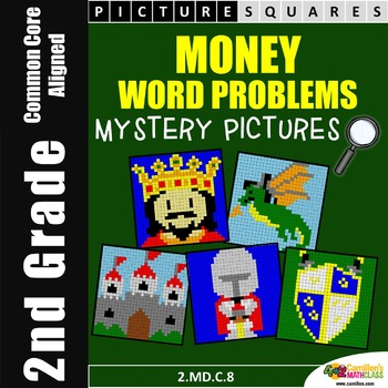Money Word Problems, Money Worksheets Mystery Pictures