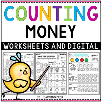 Money Worksheets-First and Second Grade