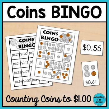 Money BINGO: Counting coins up to $1.00