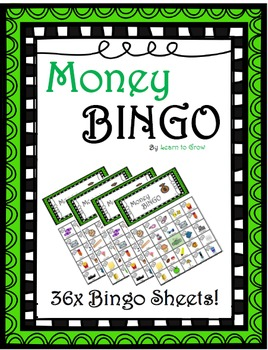 Money Bingo 36x Sheets!