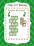 Money Clip Art - American Bills and Coins - PNG & JPEG