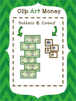 Money Clip Art - American Bills and Coins - PNG & JPEG