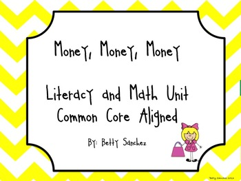 Money Coin Literacy and Math Unit  (65 pages)