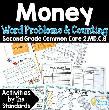 Money & Coins Word Problems & Counting  2.MD.C.8 Common Co