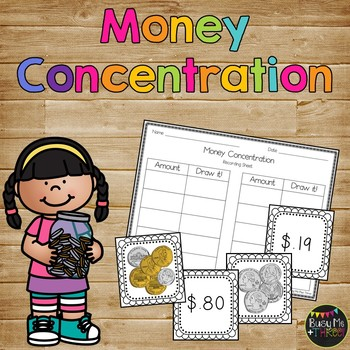 Money Concentration up to $1.00 for First and Second Grade