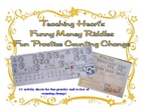 Money Counting Change / Coins Riddle Solver Worksheets for