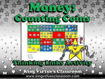 Money: Counting Coins Thinking Links Activity - Quarter, D