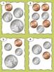 Money Task Cards- Counting Coins - Totals between 25 and 50 cents