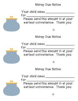 Money Due Notice