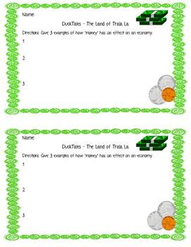 Money Effects on an Economy - Ducktales Land of Trala La