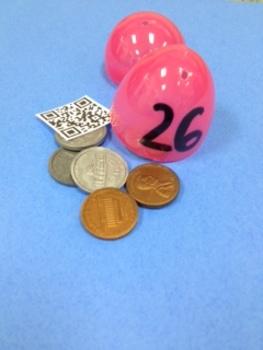 Money Egg Hunt with QR Codes