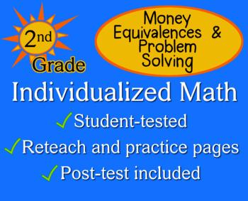 Money Equivalence, Problem Solving, 2nd grade - Individual
