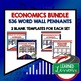 Money, Finance and Banks Word Wall Pennants (Economics and