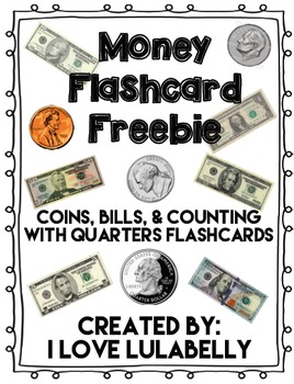 Money Flash Cards Freebie - Coins, Dollars, Counting with