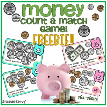 Money Game - Count & Match FREEBIE!