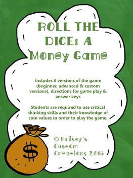 Money Game- Roll The Dice (Critical Thinking & Knowledge o