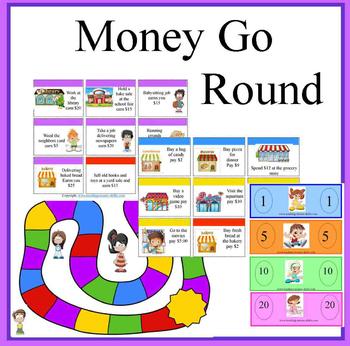 Money Go Round Math Game
