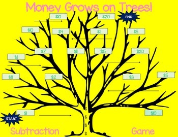 Money Grows on Trees! Subtraction An Original Game K, 1st,