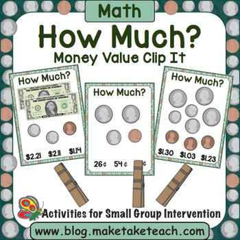 Money - How Much? Clip It Cards